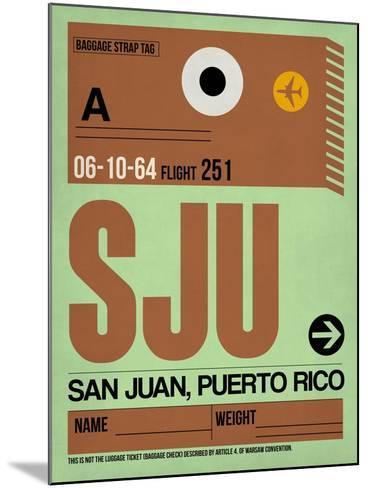 SJU San Juan Luggage Tag I-NaxArt-Mounted Art Print