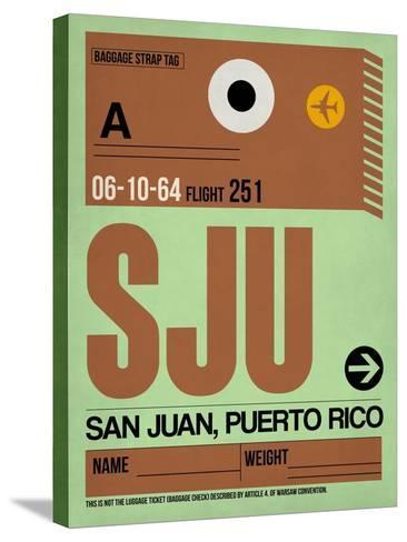 SJU San Juan Luggage Tag I-NaxArt-Stretched Canvas Print