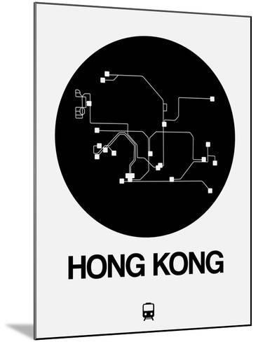 Hong Kong Black Subway Map-NaxArt-Mounted Art Print
