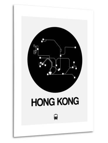Hong Kong Black Subway Map-NaxArt-Metal Print