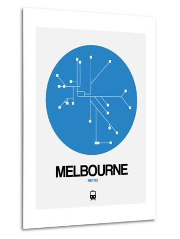 Melbourne Blue Subway Map-NaxArt-Metal Print