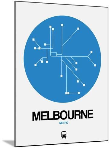 Melbourne Blue Subway Map-NaxArt-Mounted Art Print