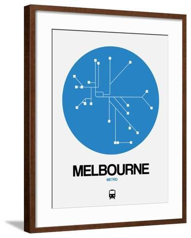 Melbourne Blue Subway Map-NaxArt-Framed Art Print