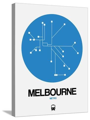 Melbourne Blue Subway Map-NaxArt-Stretched Canvas Print