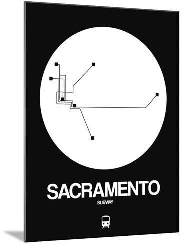 Sacramento White Subway Map-NaxArt-Mounted Art Print