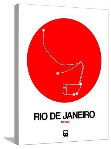 Rio De Janeiro Red Subway Map-NaxArt-Stretched Canvas Print