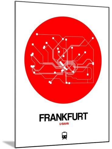 Frankfurt Red Subway Map-NaxArt-Mounted Art Print