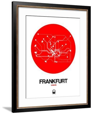 Frankfurt Red Subway Map-NaxArt-Framed Art Print