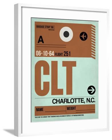 CLT Charlotte Luggage Tag I-NaxArt-Framed Art Print