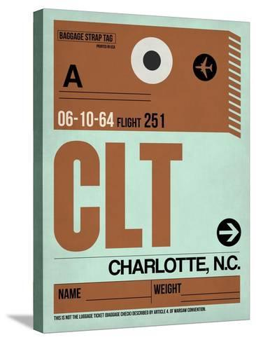 CLT Charlotte Luggage Tag I-NaxArt-Stretched Canvas Print
