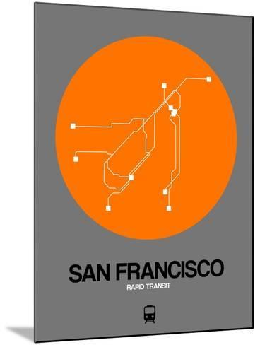 San Francisco Orange Subway Map-NaxArt-Mounted Art Print