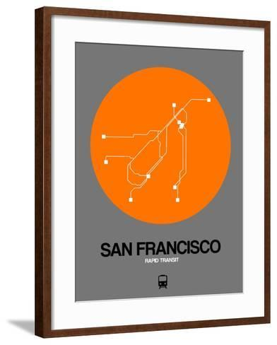 San Francisco Orange Subway Map-NaxArt-Framed Art Print