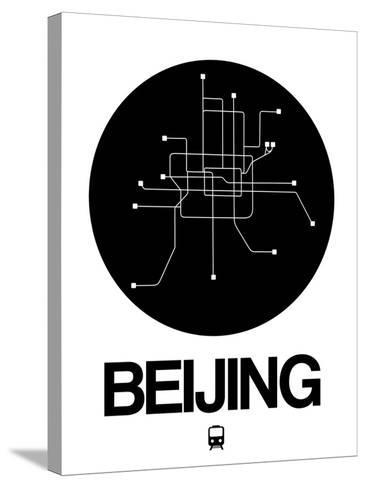 Beijing Black Subway Map-NaxArt-Stretched Canvas Print