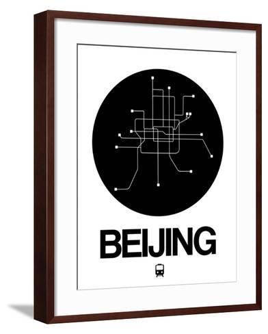 Beijing Black Subway Map-NaxArt-Framed Art Print