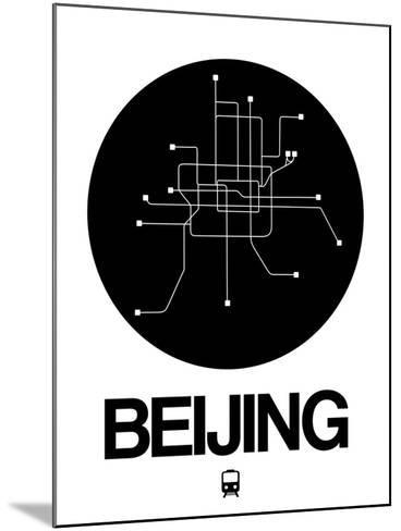 Beijing Black Subway Map-NaxArt-Mounted Art Print