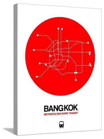 Bangkok Red Subway Map-NaxArt-Stretched Canvas Print