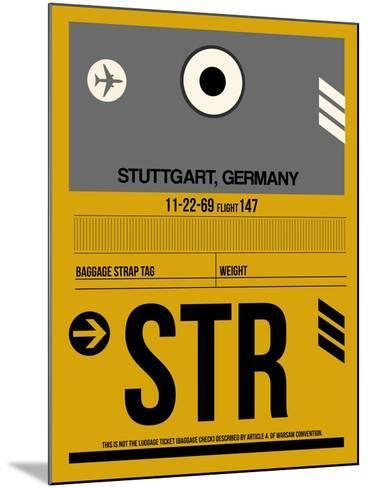 STR Stuttgart Luggage Tag I-NaxArt-Mounted Art Print
