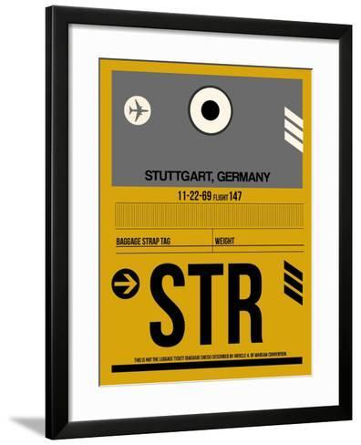 STR Stuttgart Luggage Tag I-NaxArt-Framed Art Print