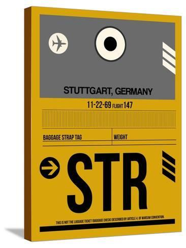 STR Stuttgart Luggage Tag I-NaxArt-Stretched Canvas Print