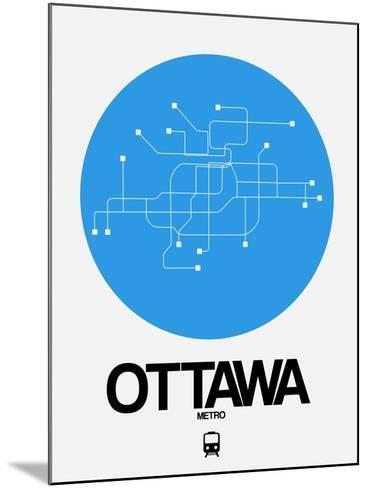 Ottawa Blue Subway Map-NaxArt-Mounted Art Print