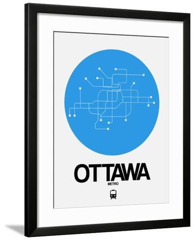 Ottawa Blue Subway Map-NaxArt-Framed Art Print
