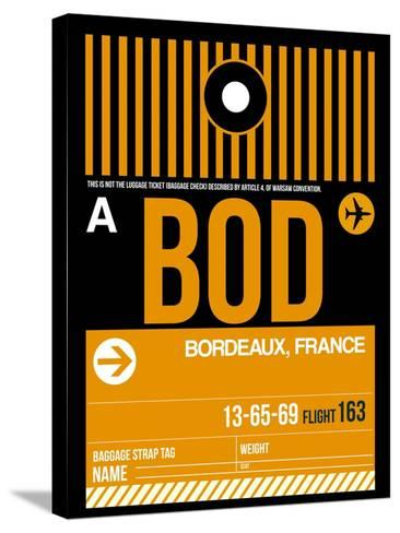 BOD Bordeaux Luggage Tag II-NaxArt-Stretched Canvas Print