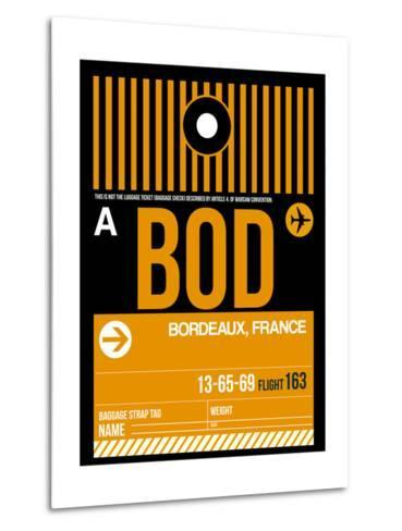 BOD Bordeaux Luggage Tag II-NaxArt-Metal Print