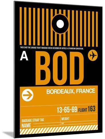 BOD Bordeaux Luggage Tag II-NaxArt-Mounted Art Print