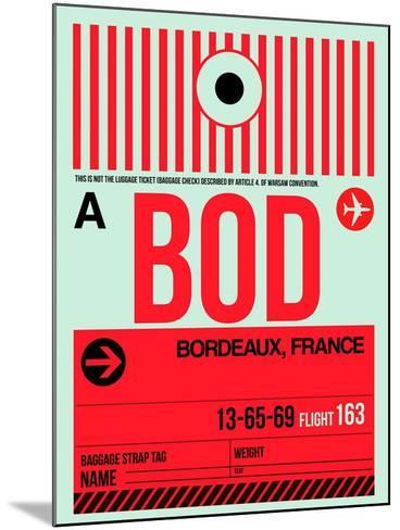 BOD Bordeaux Luggage Tag I-NaxArt-Mounted Art Print