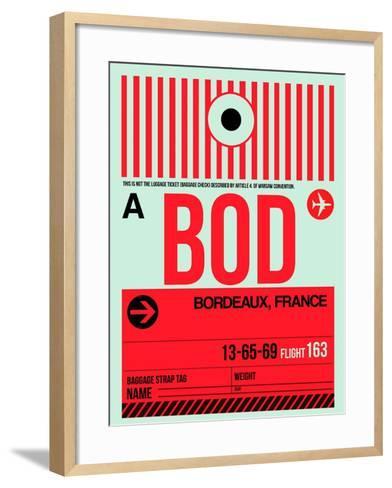 BOD Bordeaux Luggage Tag I-NaxArt-Framed Art Print