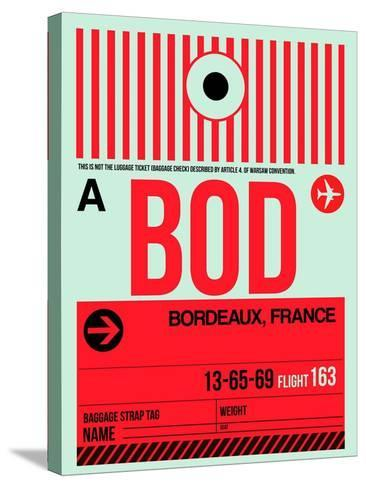 BOD Bordeaux Luggage Tag I-NaxArt-Stretched Canvas Print