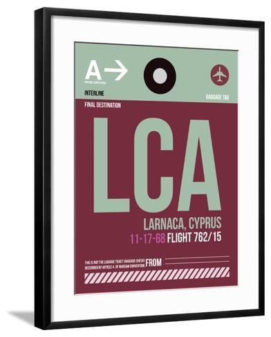 LCA Cyprus Luggage Tag II-NaxArt-Framed Art Print