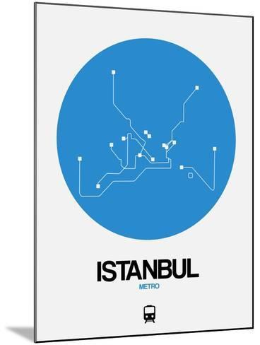 Istanbul Blue Subway Map-NaxArt-Mounted Art Print