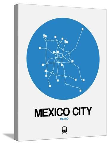Mexico City Blue Subway Map-NaxArt-Stretched Canvas Print