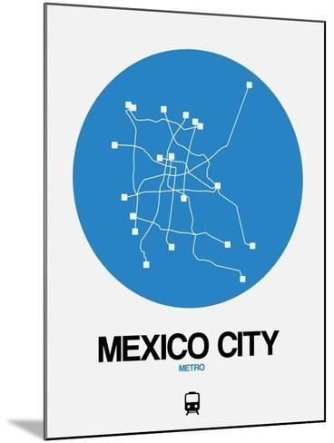 Mexico City Blue Subway Map-NaxArt-Mounted Art Print