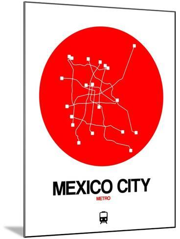 Mexico City Red Subway Map-NaxArt-Mounted Art Print