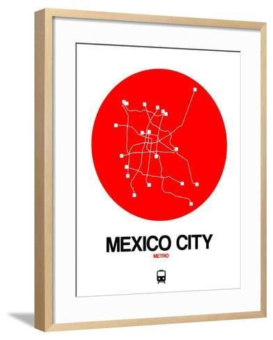 Mexico City Red Subway Map-NaxArt-Framed Art Print