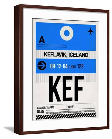 KEF Keflavik Luggage Tag I-NaxArt-Framed Art Print