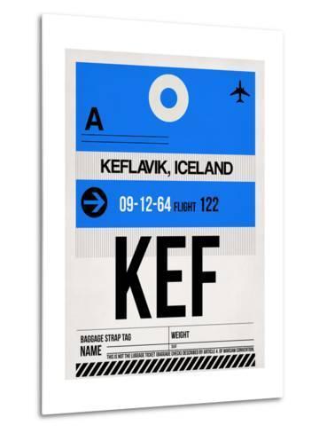 KEF Keflavik Luggage Tag I-NaxArt-Metal Print
