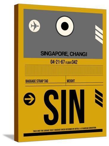 SIN Singapore Luggage Tag I-NaxArt-Stretched Canvas Print