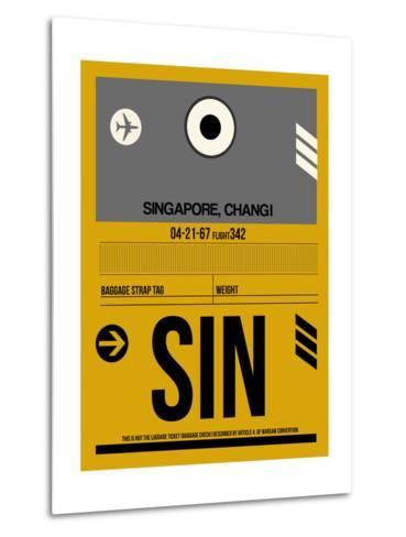 SIN Singapore Luggage Tag I-NaxArt-Metal Print
