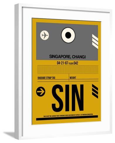 SIN Singapore Luggage Tag I-NaxArt-Framed Art Print