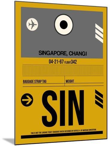 SIN Singapore Luggage Tag I-NaxArt-Mounted Art Print