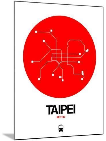 Taipei Red Subway Map-NaxArt-Mounted Art Print