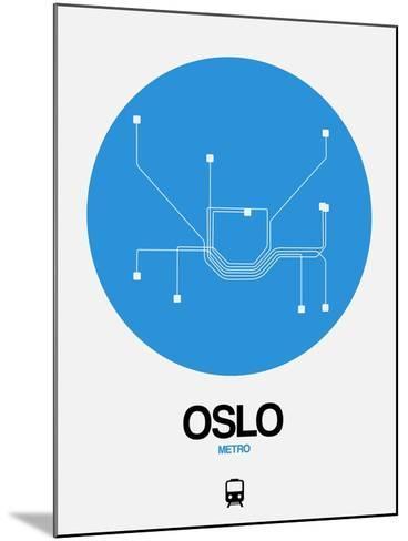 Oslo Blue Subway Map-NaxArt-Mounted Art Print