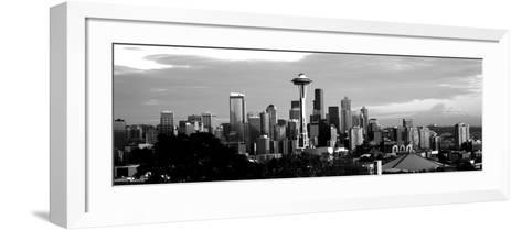 City Viewed from Queen Anne Hill, Space Needle, Seattle, King County, Washington State, USA--Framed Art Print