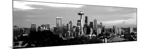 City Viewed from Queen Anne Hill, Space Needle, Seattle, King County, Washington State, USA--Mounted Photographic Print