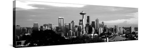 City Viewed from Queen Anne Hill, Space Needle, Seattle, King County, Washington State, USA--Stretched Canvas Print