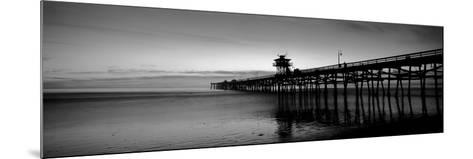 Silhouette of a Pier, San Clemente Pier, Los Angeles County, California, USA--Mounted Photographic Print