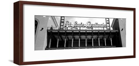 Low Angle View of the Busch Stadium in St. Louis, Missouri, USA--Framed Art Print